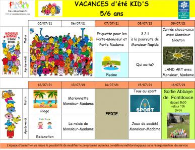 Kids du 07 au 16 juillet