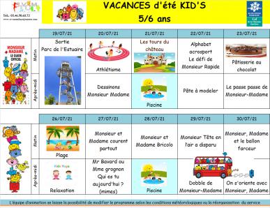 Kids du 19 au 30 juillet