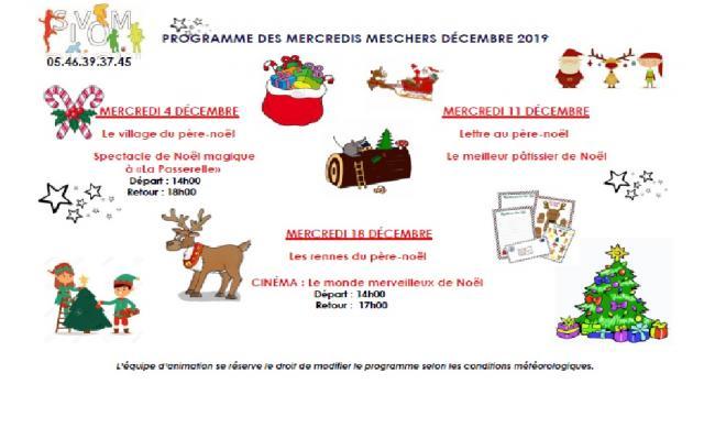 Programme decembre meschers 2019