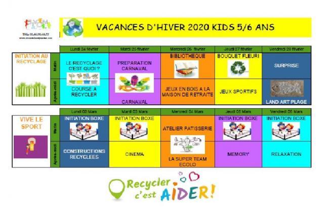 Programme des vacances fevrier kids
