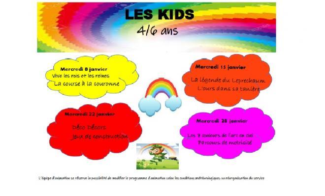 Programme janvier kids
