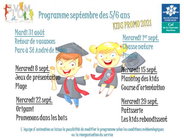 Programme kids septembre 2021
