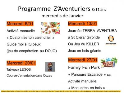 Programme mercredis janvier 2021 z aventuriers 10