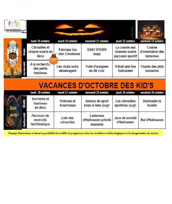 Vacances octobre kids 2